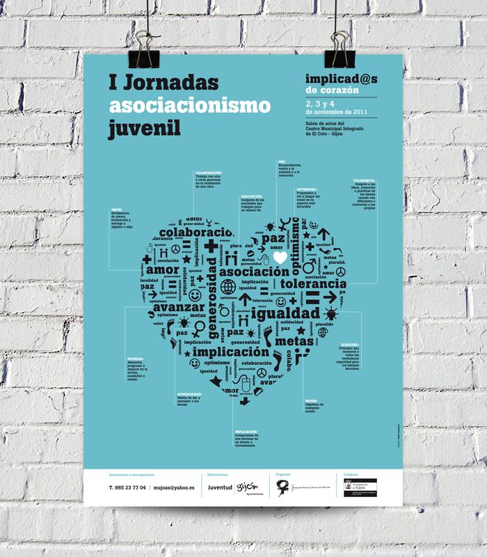 Adaptación del cartel a la imagen de las I Jornadas de Asociacionismo Juvenil