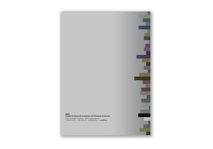 Diseño contraportada memoria IDEPA 2009