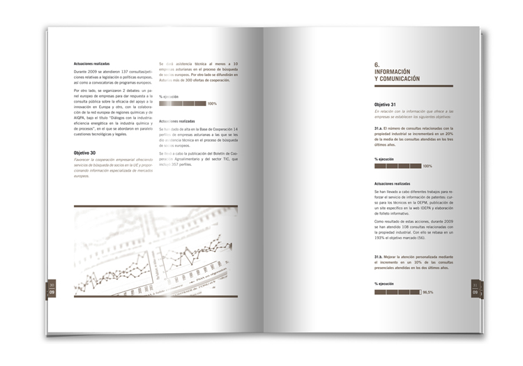 Diseño interior memoria IDEPA 2009