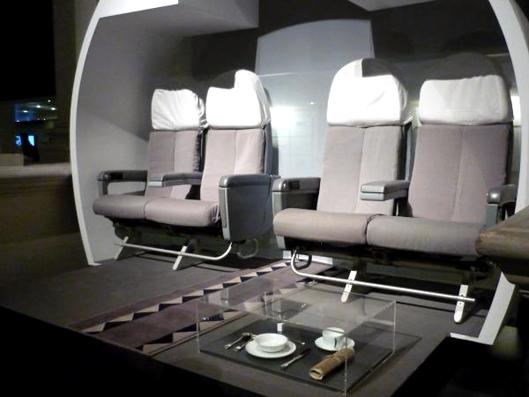 Diseño interior del Avión Concorde