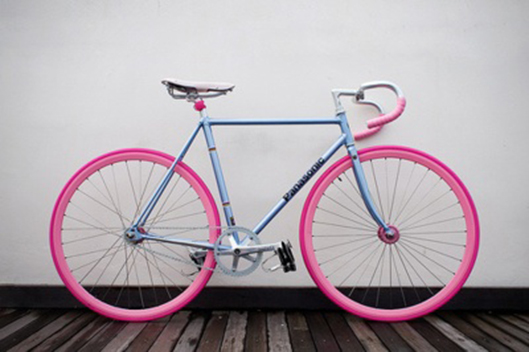 fixie pink blue